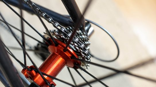 Punainen polkupyörän takanapa