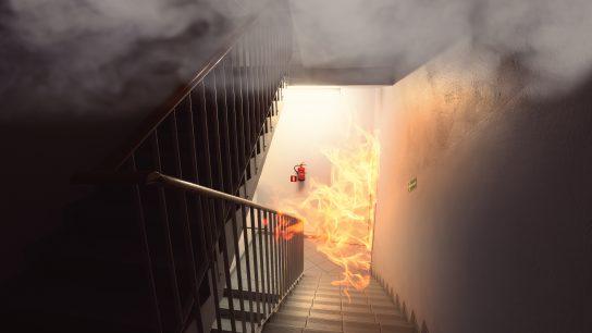 Palosuojamaaleja käytetään hidastamaan tulipalon leviämistä.