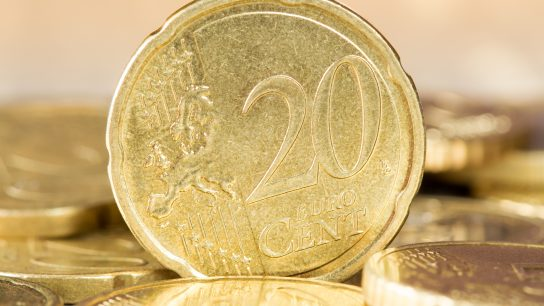 Euroista 10, 20 ja 50 sentin kolikot ovat valmistettu kupariseoksesta nimeltä Nordic Gold.